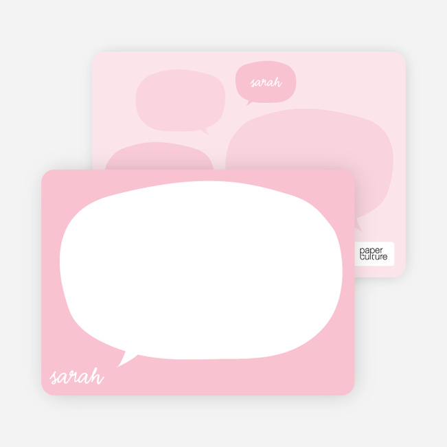 Thought Bubble Stationery - Soapy Pink