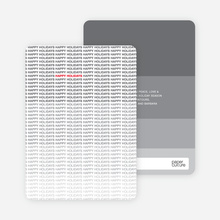 Ultimate Happy Holidays Card - Silver Grey
