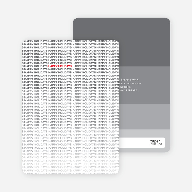 Ultimate Happy Holidays Cards - Silver Grey