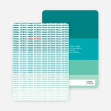 Ultimate Happy Holidays Cards - Teal