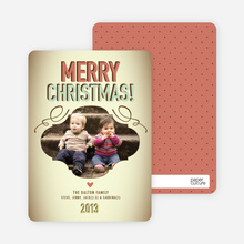 Vintage Christmas Holiday Photo Cards - Salmon