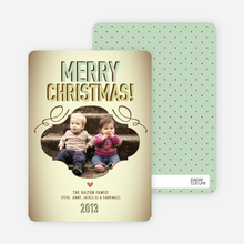 Vintage Christmas Holiday Photo Cards - Mint Green