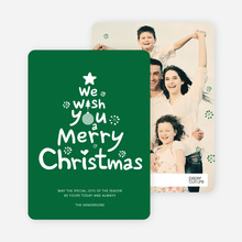 We Wish You a Merry Christmas - Green