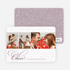 Cheer Script Holiday Photo Cards - Grape