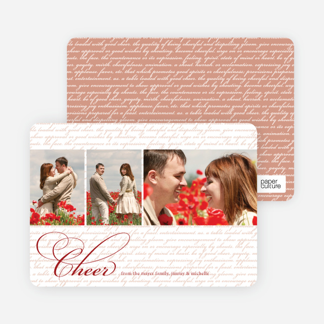 Holiday Cards: Cheer Script - Burgundy