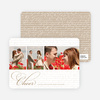 Cheer Script Holiday Photo Cards - Caramel