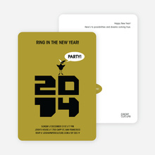 New Year's Eve Party Bird - Khaki Yellow
