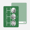 Ho Ho Ho Multi Photo Card (3 photos) - Forest Green