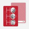 Ho Ho Ho Multi Photo Card (3 photos) - Cherry