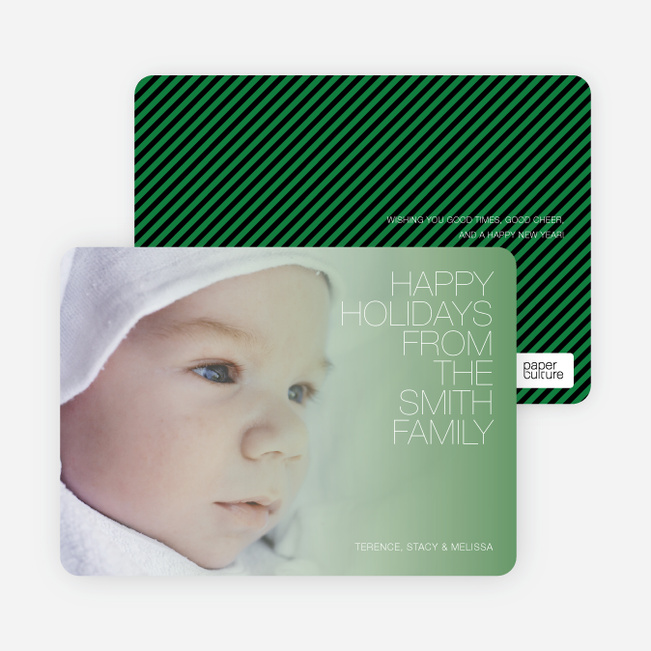 Holiday Memories Photo Cards - Asparagus Green