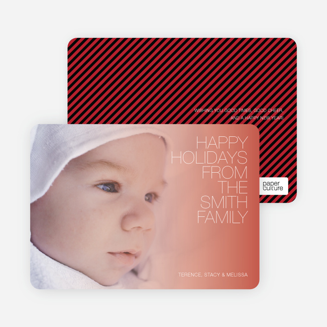 Holiday Memories Photo Cards - Burnt Orange