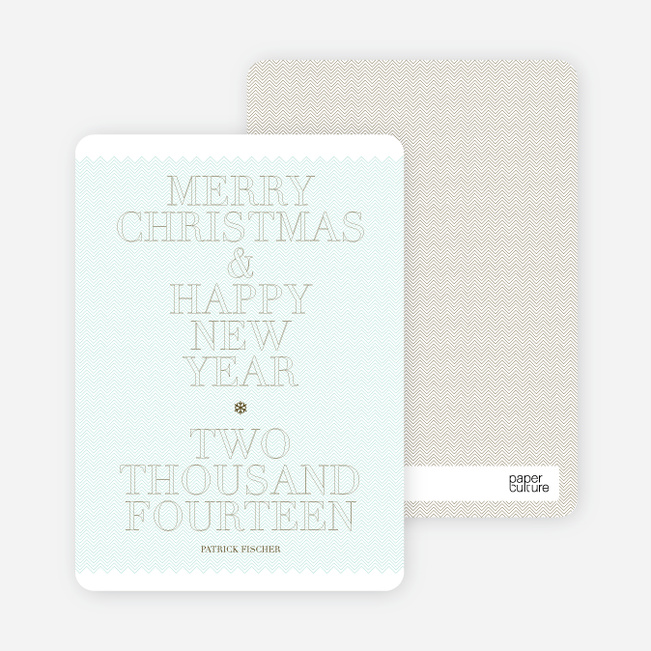 Simple and Bold: Modern Holiday Card - Azure