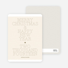 Simple and Bold: Modern Holiday Card - Champagne