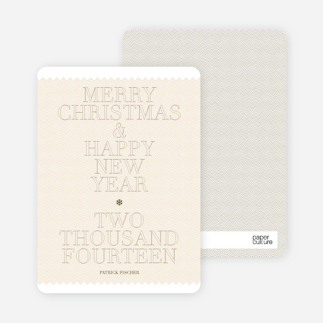 Modern Holiday Cards: Simple and Bold - Champagne