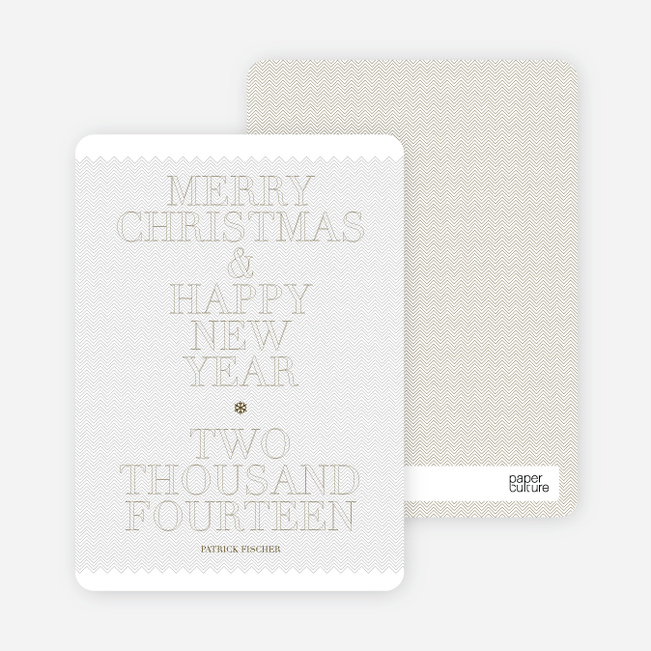 Simple and Bold: Modern Holiday Card - Mercury