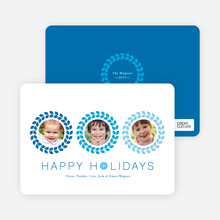 Triple O – 3 Photo Holiday Card - Royal Blue