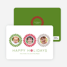 Triple O – 3 Photo Holiday Card - Crimson
