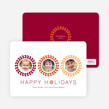 Triple O – 3 Photo Holiday Card - Saffron