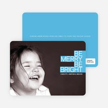 Be Merry Be Bright - Cornflower Blue