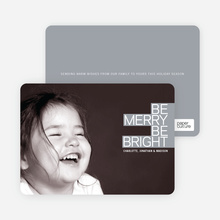 Holiday Cards: Be Merry Be Bright - Shamrock Green