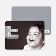 Be Merry Be Bright - Silver Grey
