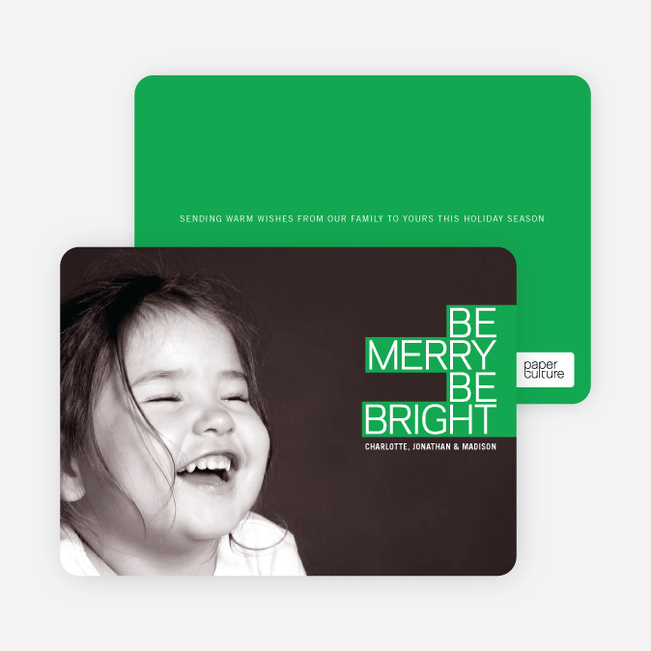 Holiday Cards: Be Merry Be Bright - Silver Grey