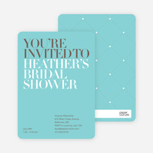 Bold Letters Bridal Shower Invites - Azure