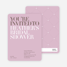 Bold Letters Bridal Shower Invites - Lavender