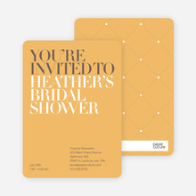 Bold Letters Bridal Shower Invites - Apricot