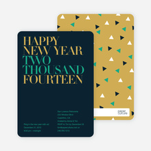 Bold Type New Years - Slate Blue