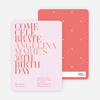 Celebrate Good Times Invitation - Pale Pink