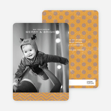 Charming Holiday Cards - Orange