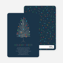 Colorful Christmas Tree Invitations - Navy