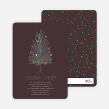 Colorful Christmas Tree Invitations - Walnut