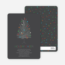 Colorful Christmas Tree Invitations - Slate