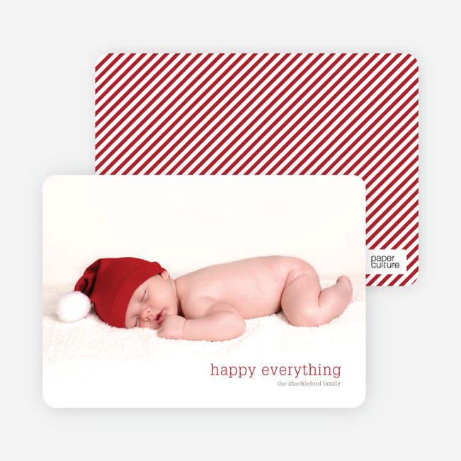 happy everything Holiday Photo Cards - Crimson