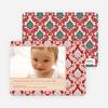 Modern Fleur-de-lis Holiday Photo Cards - Pale Apricot