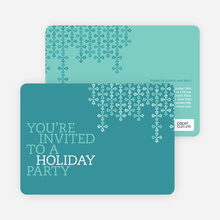 Modern Pattern Holiday Party Invitations - Turquoise