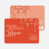 Modern Pattern Holiday Party Invitations - Apricot