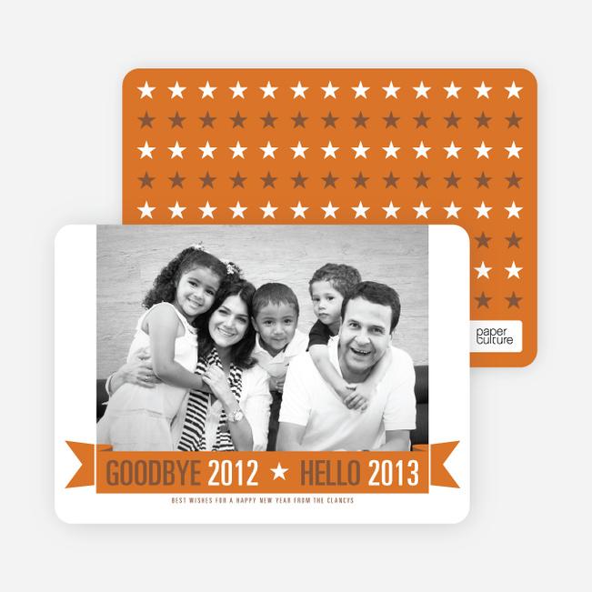 New Year Star Cards - Orange