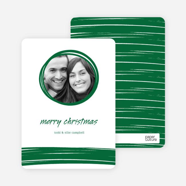 Peephole Holiday Photo Cards - Emerald Green