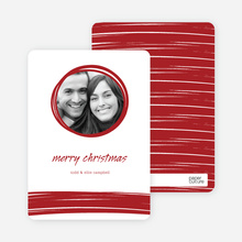 Peephole Holiday Photo Cards - Sangria