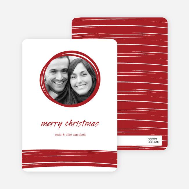 Peephole Holiday Photo Cards - Sangria