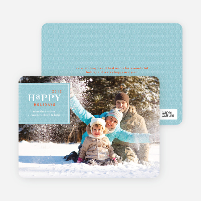 Classic Holiday Cards - Aquamarine