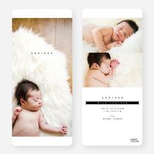 Simply Classic Photo Birth Announcements - Black