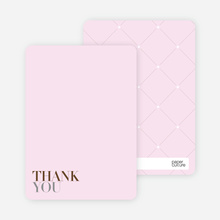 Thank You Card for Celebrate Good Times Invitation - Blush