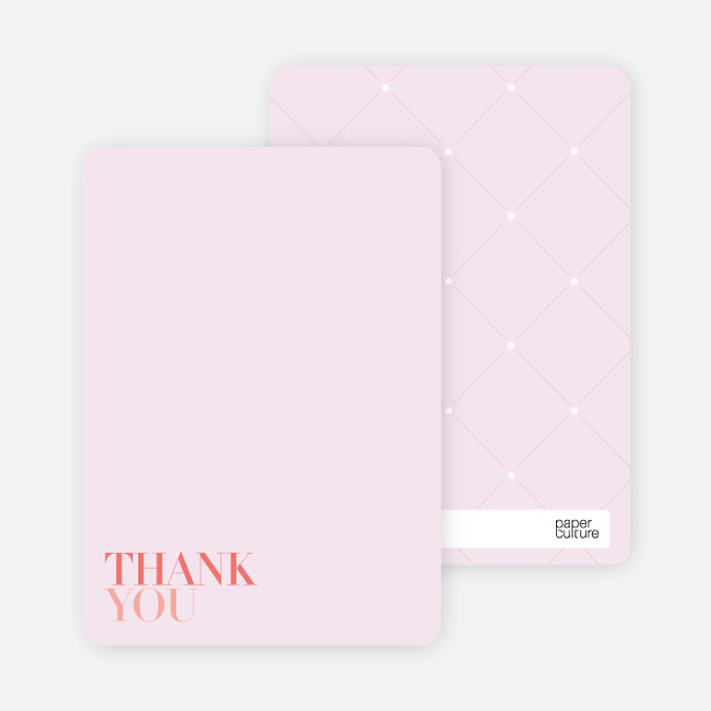 Thank You Card for Celebrate Good Times Invitation - Coral