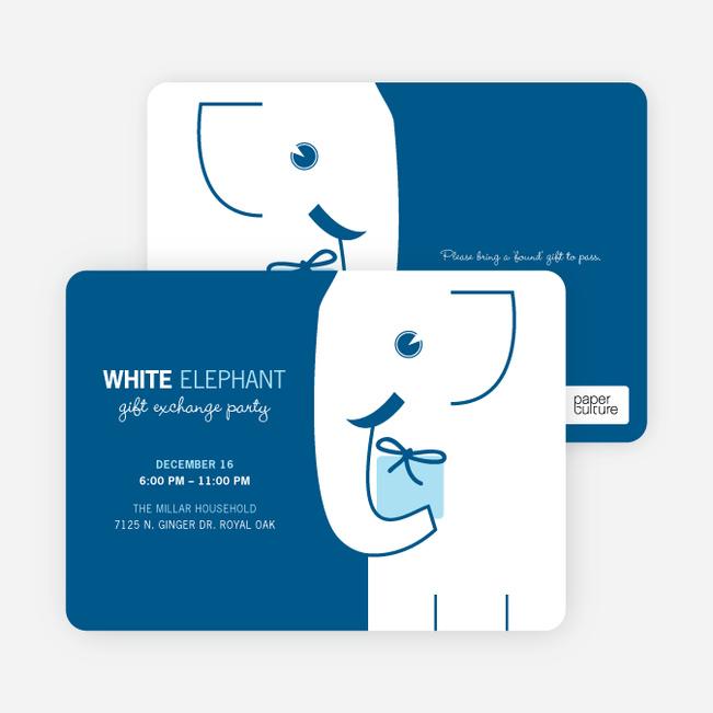 White Elephant on Tiny Prints for White Elephant Parties - Glacier
