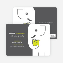 White Elephant on Tiny Prints - Absinthe