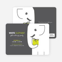 White Elephant on Tiny Prints for White Elephant Parties - Absinthe
